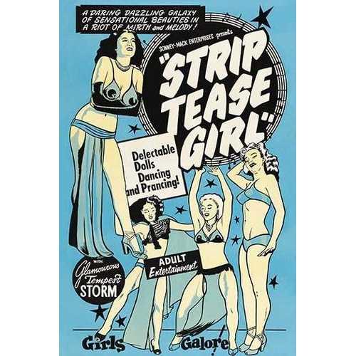 Strip Tease Girl (Framed Poster)