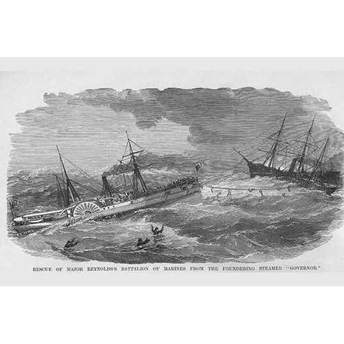 "Rescue of the Steamer ""Governor"" (Canvas Art)"