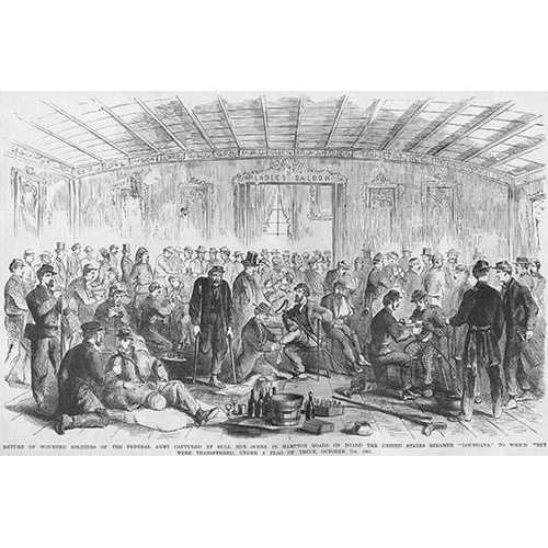 "Federals captured & Wounded at Bull Run Transported on Steamer ""Louisiana"" (Canvas Art)"