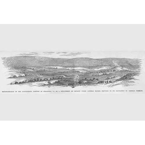 General Fremont's Reconnaissance team surveys Strasburg, Virginia (Canvas Art)