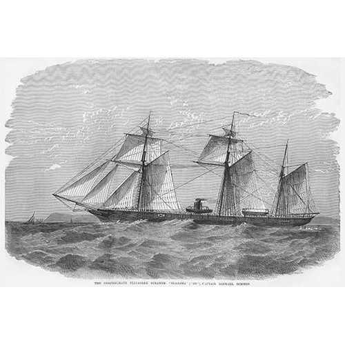 "Confederate Privateer Steamer ""Alabama"" (Canvas Art)"