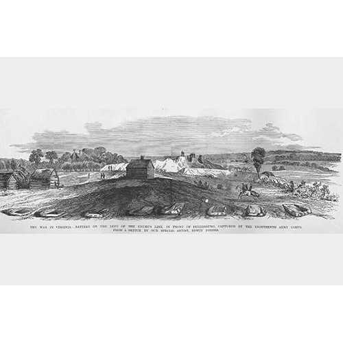Advance on Petersburg, Captured enemy Line (Paper Poster)