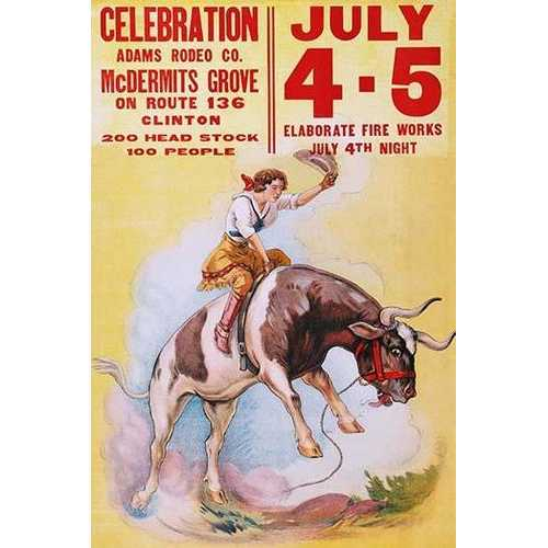 Adams Rodeo Company Celebration (Canvas Art)