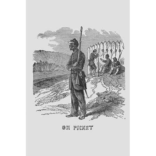 African Americans as Pickets (Paper Poster)
