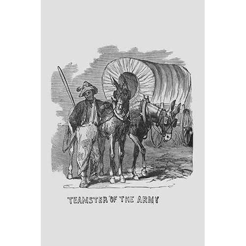 African Americans serving as Teamsters (Framed Poster)