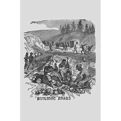 African Americans Building Roads (Canvas Art)
