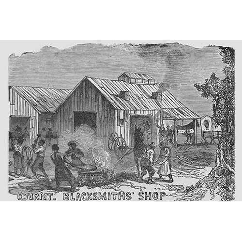 African Americans as blacksmiths (Canvas Art)