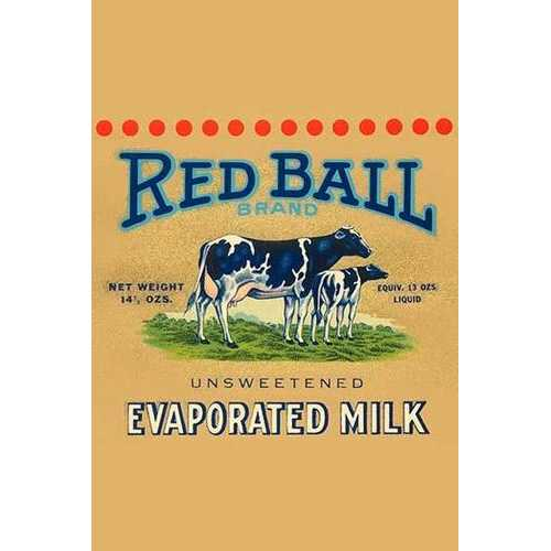 Red Ball Brand Unsweetened Evaporated Milk (Fine Art Giclee)