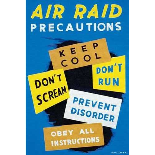 Air Raid Precautions (Paper Poster)