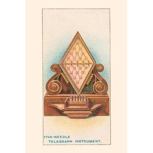 Five Needle Telegraph Instrument (Paper Poster)