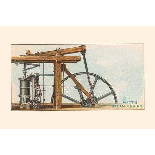 Watt's Steam Engine (Canvas Art)