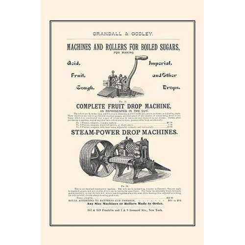 Boiled Sugar Roller & Steamed Powered Drop Machines (Framed Poster)