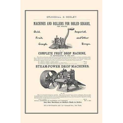 Boiled Sugar Roller & Steamed Powered Drop Machines (Paper Poster)
