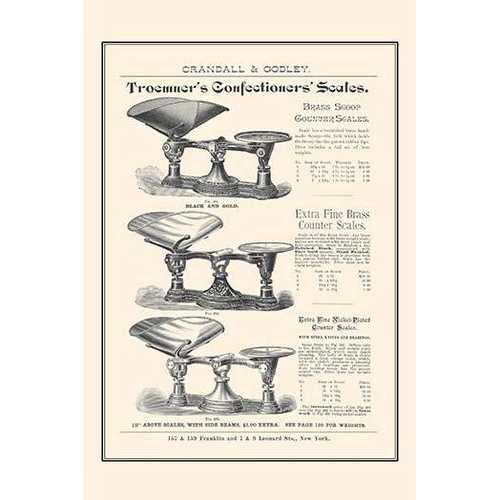 Troemners Confectioners Scales (Fine Art Giclee)