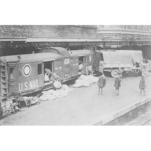 Paris to Coblenz Mail Train loaded by US Doughboys (Canvas Art)