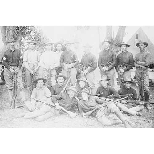 California Rifle Team from Camp Perry wears both Uniforms & Civilian Clothes (Canvas Art)