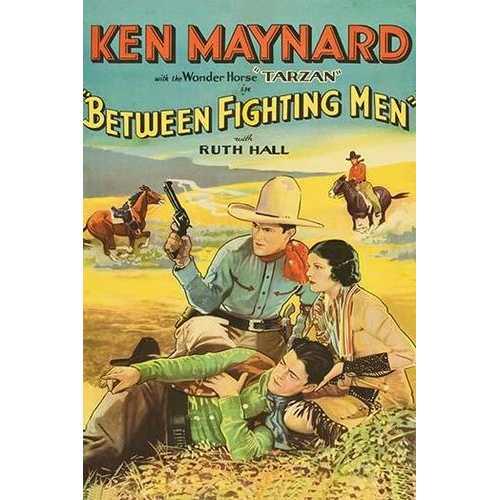Between Fighting Men (Framed Poster)