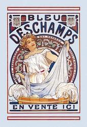Bleu Deschamps en Vente Ici (Paper Poster)