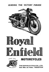 Royal Enfield Motorcycles: Leading the Victory Parade (Fine Art Giclee)