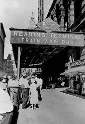 Reading Terminal Train and Bus, Philadelphia, PA (Paper Poster)