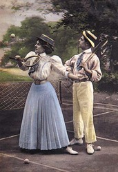 Two Tennis Players (Fine Art Giclee)