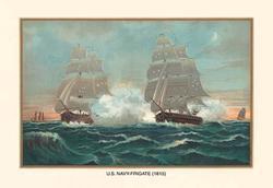 U.S. Navy Frigate, 1815 (Paper Poster)