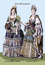 Zidmila Sophia of Sweden and Elizabeth of Bern, 18th Century (Paper Poster)