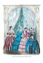 Frank Leslie's Ladies' Gazette, 1854 #10 (Fine Art Giclee)