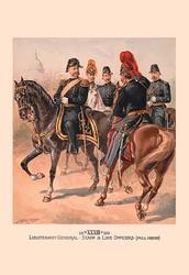 Lieutenant General, Staff & Line Officers (Full Dress) (Framed Poster)