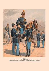Enlisted Men, Cavalry & Infantry (Full Dress) (Fine Art Giclee)