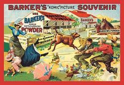 """Barker's """"Komic"""" Picture Souvenir: Barnyard Tussle (Paper Poster)"""