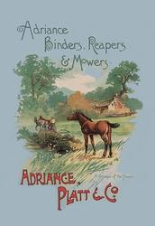 Adriance Binders, Reapers and Mowers (Paper Poster)
