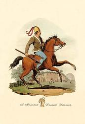 A Mounted British Warrior (Paper Poster)