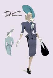 Classy Suit Dress with Hat and Bag (Paper Poster)