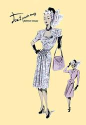 Fashionable Dress with Bag and Hat (Paper Poster)