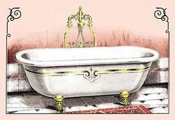 Ornate Bathtub (Canvas Art)