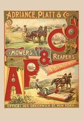 Adriance, Platt and Co., Mowers, Reapers and Binders (Paper Poster)