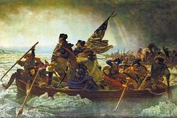 Washington Crossing the Delaware (Framed Poster)