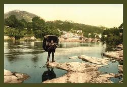 Category: Dropship Photographic, SKU #19662-9 C2436, Title:  Llangolen, Wales (Canvas Art)