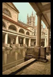 Roman Baths and Abbey (Canvas Art)
