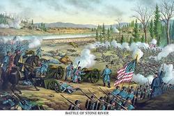Battle of Stone River or Murfreesboro (Paper Poster)