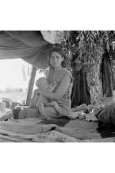 Category: Dropship Photographic, SKU #24165-9 C2436, Title:  Refugees of the Drought of the Dust Bowl (Canvas Art)