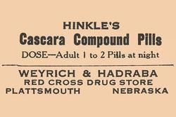 Hinkle's Cascara Compound Pills (Canvas Art)