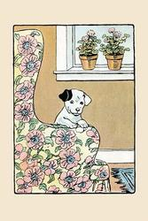 Lounge Chair Puppy (Framed Poster)