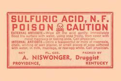 Sulfuric Acid (Paper Poster)