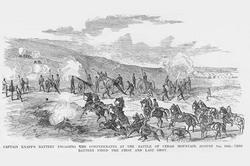 Knapp's Battery at the Battle of Cedar Mountain (Canvas Art)
