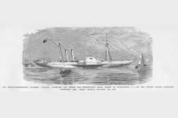 """Anglo Confederate Steamer """"Anglia"""" captured off of Charleston (Framed Poster)"""