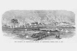 Invasion of Pennsylvania - Battle of Gettysburg (Canvas Art)