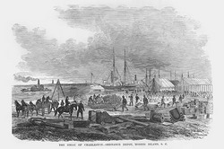 Siege of Charleston, Engineering Depot on Morris Island (Paper Poster)
