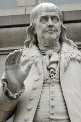 Ben Franklin statue at the Old Post Office Pavilion (Fine Art Giclee)